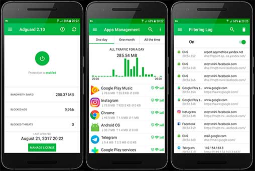 Adguard 4.0.17 (Full Premium) (Nightly) Apk + Mod for Android