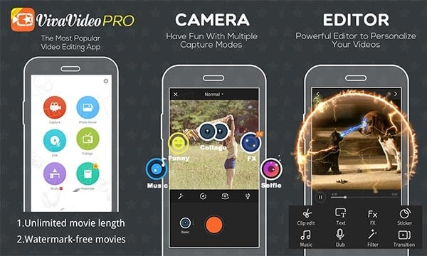 VivaVideo Pro Video Editor App 6.0.4 b6600046 (Full) Apk + Mod + 8.2.1 Android